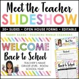 Virtual Meet the Teacher Google Slides | Student Informati