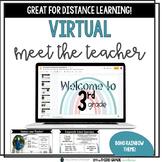 Virtual Meet the Teacher Night - Open House - Boho Rainbow - Google Slides