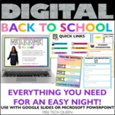 Virtual Open House Back to School