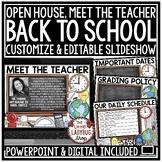 Digital Virtual Meet the Teacher Template Editable, Back t