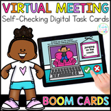 Virtual Meeting Choices | Boom Cards™ | Distance Learning