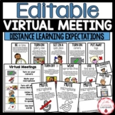 Virtual Meeting Expectations for Distance Learning | EDITABLE