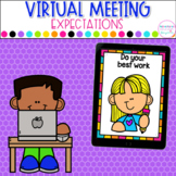 Virtual Meeting Expectations for Google Slides™ | Distance