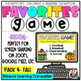 Virtual Meeting Games | DIGITAL GAME | Fall Morning Meeting Games