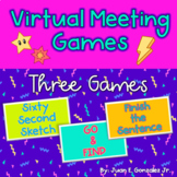 Virtual Meeting Games | Editable | Distance Learning | Six