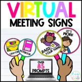 Virtual Meeting Signs | Visual Prompts for Distance Learning