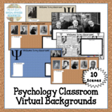 Virtual Meeting Zoom Backgrounds Distance Learning for Psy