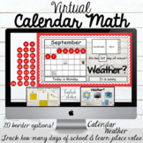 Virtual Morning Meeting Calendar Math Board