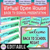 Virtual Open House - Back to School Presentation | EDITABLE Google Slides