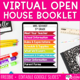 Virtual Open House Google Slides™ Booklet | Distance Learn