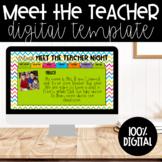 Virtual Open House/Meet the Teacher | Google Slides | Neon Chevron