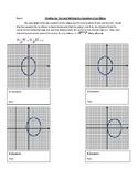 Vertical Major Axis Ellipses Worksheet