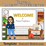 Virtual Parent Conference Easy Editable Template, Add your Bitmoji and Links