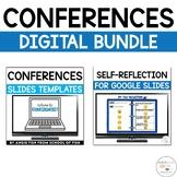 Virtual Parent Teacher Conference Slides | Digital Self-Reflection Form
