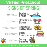 Virtual Preschool - Signs of Spring Circle Time