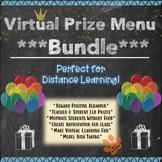 Virtual Prize Menu Bundle for Middle High School Distance