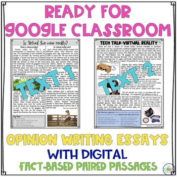 Virtual Reality Paired Texts: Writing On-Demand Opinion Argumentative Essay