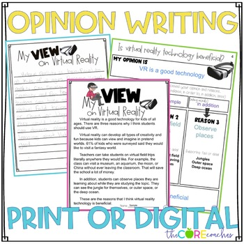 Virtual Reality Paired Texts: Writing On-Demand Opinion Essay Editable