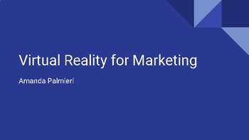 Virtual Reality for Marketing