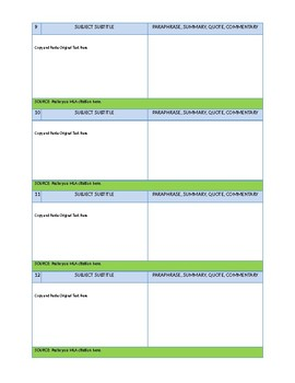 Virtual Research Notecards