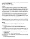 Virtual Roller Coaster Physics - Webquest