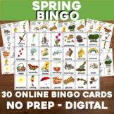 Virtual SPRING Bingo for Digital or In-Class Google Slides
