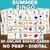Virtual SUMMER Bingo for Digital or In-Class Google Slides
