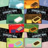 Virtual Sensory Bins (Seasonal Bundle- 12 Bins)