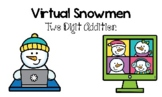 Virtual Snowmen Two Digit Addition