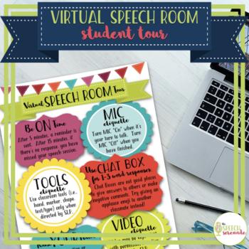 Virtual Speech Room Tour for Teletherapy