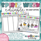 Virtual Spirit Week (Editable) Distance Learning