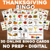 Virtual THANKSGIVING Bingo for Digital or In-Class use Goo