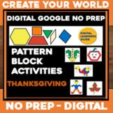 Virtual THANKSGIVING Digital NO PREP Google Slides - Patte