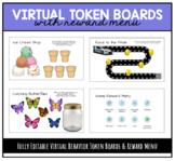 Virtual Token Boards and Reward Menu - GOOGLE SLIDES
