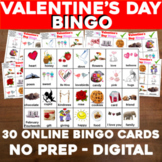 Virtual VALENTINES DAY Bingo for Digital or In-Class Googl