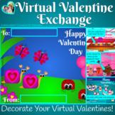 Virtual Valentine Exchange Digital Cards Distance Learning for Google Slides TM