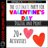 Virtual Valentine's Day Class Party Activities | Remote &