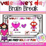 Virtual Valentine's Day Party|Digital Activities & Games| Brain Breaks