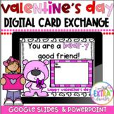 Virtual Valentine's Day Party|Digital Valentine's Day Cards Exchange|No prep