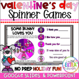 Virtual Valentine's Day Party Games Activities|Digital Spinners|Morning Meeting