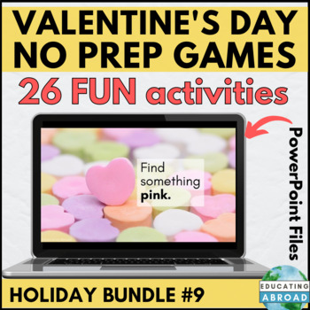 Classroom Game Zoom Game Galentines Game Valentine/'s Day Game Virtual Game Valentine/'s Day Cartoon Couple Match up PowerPoint Game