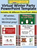 Virtual Winter Party Celebration PowerPoint for Distance Learning or Class