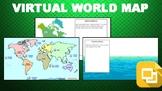 Virtual World Map (Editable in Google Slides)