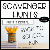 Virtual and In person Scavenger Hunt Back to School Activities