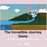 Virtual digital interactive Incredible Journey Water Cycle Game