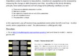 Virtual evolution lab - genetic drift