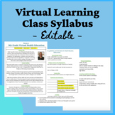 Virtual or Distance Learning Class Syllabus