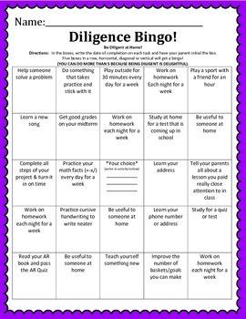 Virtue Bingo
