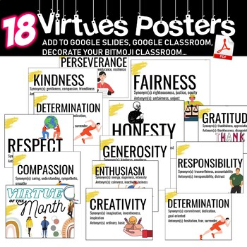 Virtue of The Month - Mini-Posters ***Just Print***