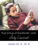 Virtue of the Month - January - SELF-CONTROL - DPCDSB - Du
